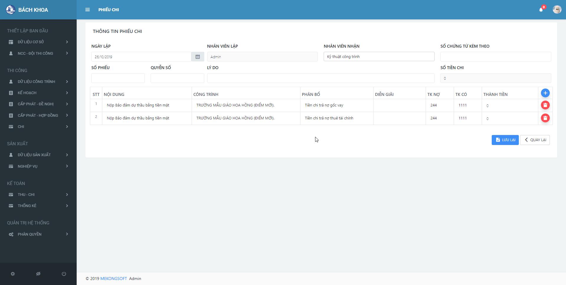 phần mềm quản lý thi công xây dựng 8