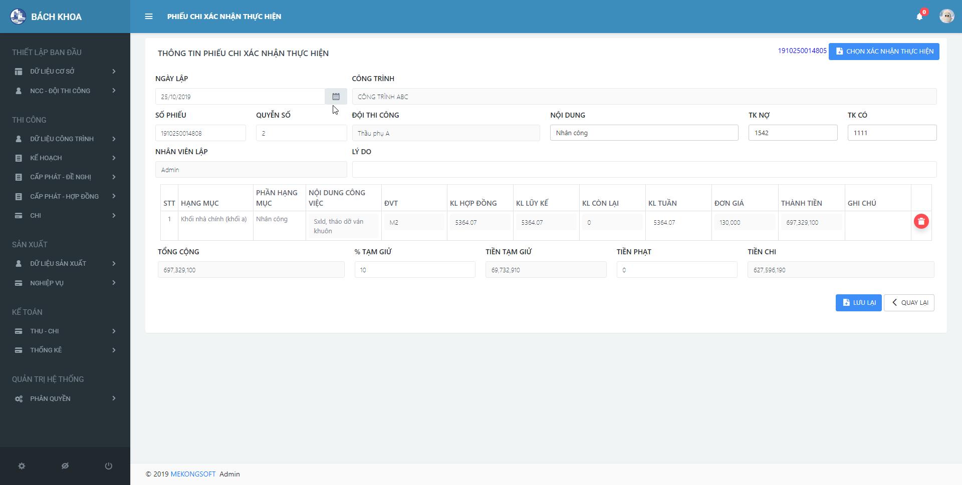 phần mềm quản lý thi công xây dựng 10